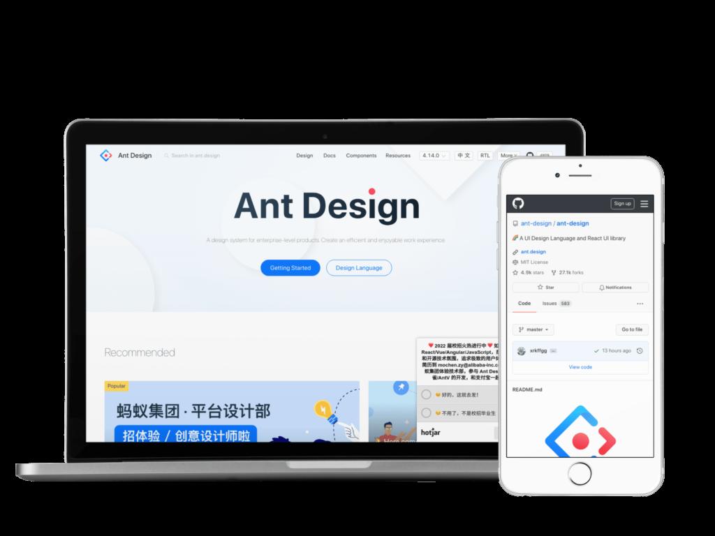 Ant Design UI Framework React JS