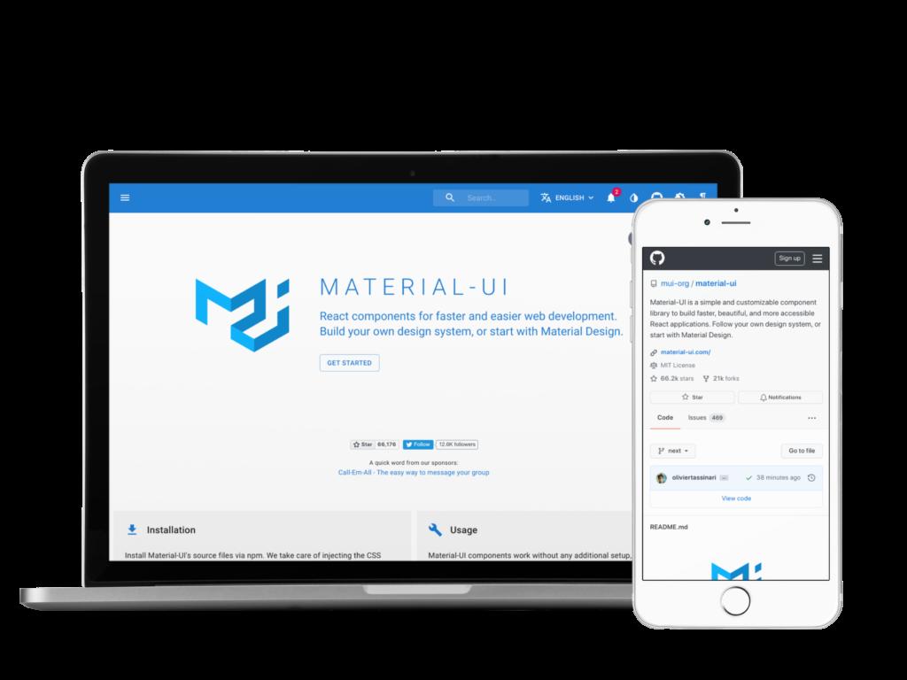 Material UI Framework React JS
